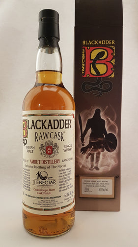 AMRUT Raw Cask RUM FINISH 61.1 ° Blackadder