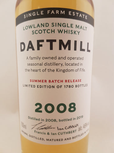 Daftmill 2008 Summer Batch Release