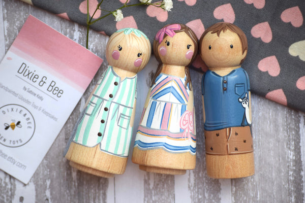 Custom Family Peg Doll - 1 Tall (Adults, Teenagers)