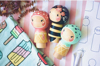 Bumblebee & 2 Ice Cream Kokeshi Playset