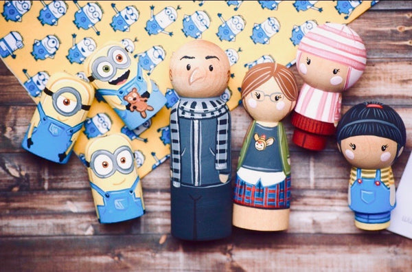 Minions - Peg Doll Set of 7
