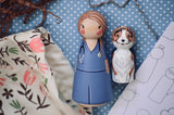 Custom Family of 2 - 1 Tall & 1 Small Doll