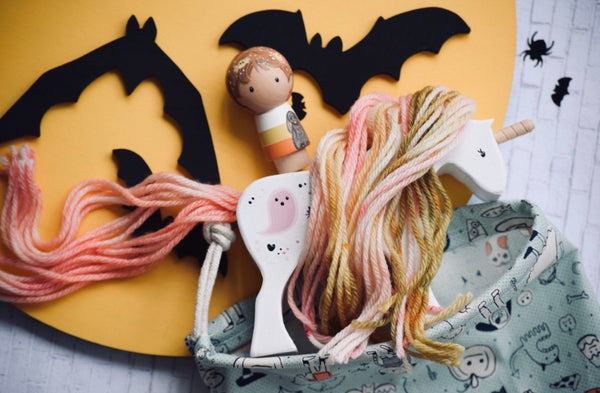 Custom Halloween Yarn Horse / Choose your Design / Yarn