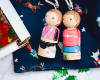 Turn my Peg Doll into a Christmas Ornament!