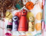 Clifford the Big Red Dog - Peg Doll Set of 4