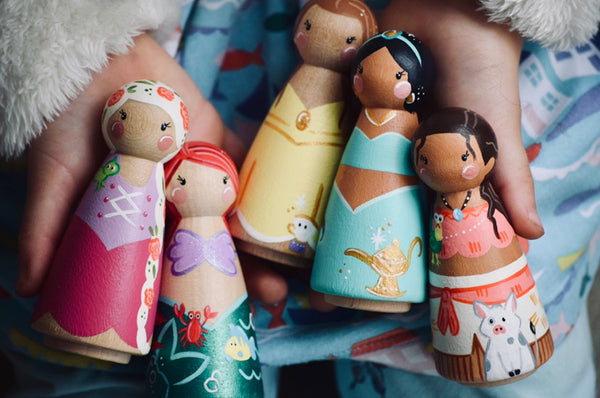 Any 3 Tall Princess Peg Doll