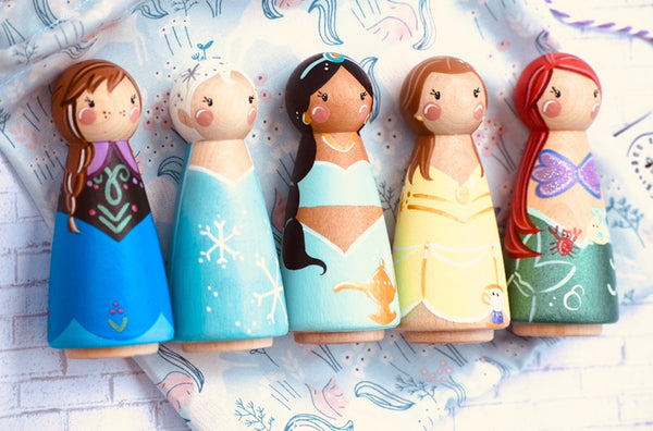 Any 5 Tall Peg Doll Characters