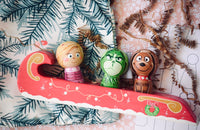 Grinch Kokeshi Set of 3 - Grinch, Cindy Lou & Max