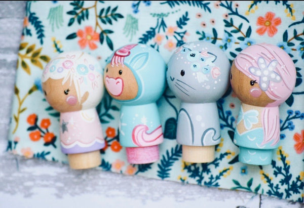 The Fantasy Set - Unicorn, Kitty, Fairy & Mermaid
