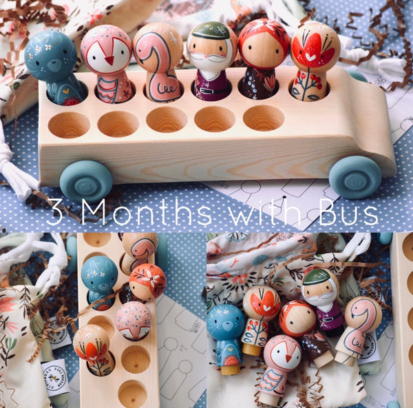 3 Months with 11 Seater Bus || you pick wheel color || Subscription Box ||