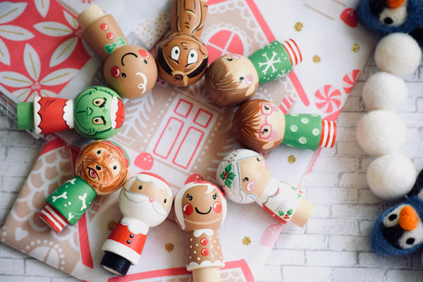Any 1 Christmas Kokeshi (excludes Grinch)