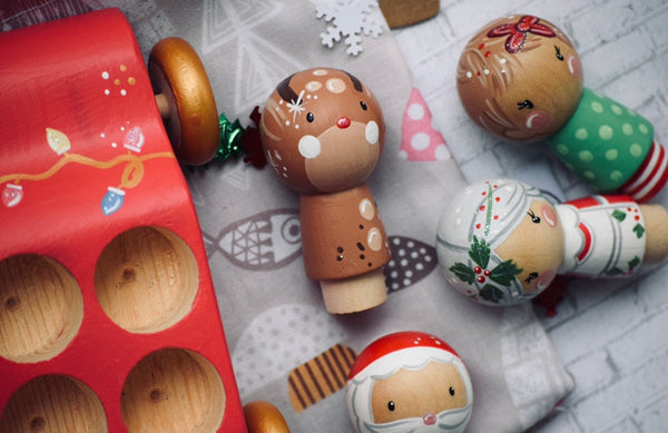 Little Reindeer Kokeshi Doll