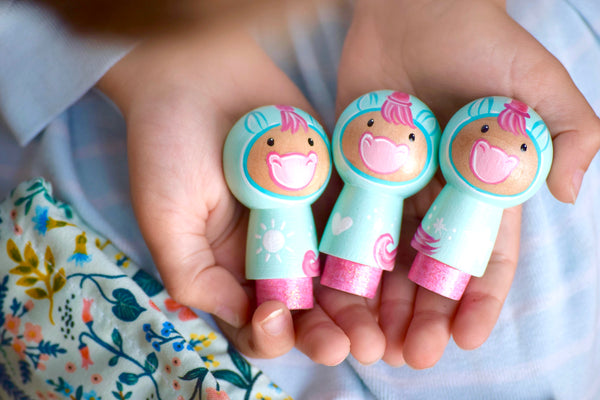 Unicorn Kokeshi Set of 3