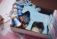 Frozen Playset - Yarnhorse Nokk with Tiny Anna, Elsa, Olaf & Bruni