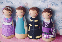 Any 4 Tall Custom Peg Dolls