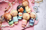 Little Princesses - Kokeshi Style Princess Sets