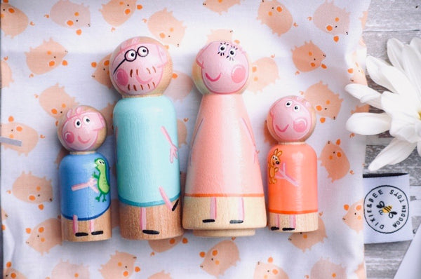 Peppa Pig Peg Dolls - Set of 4
