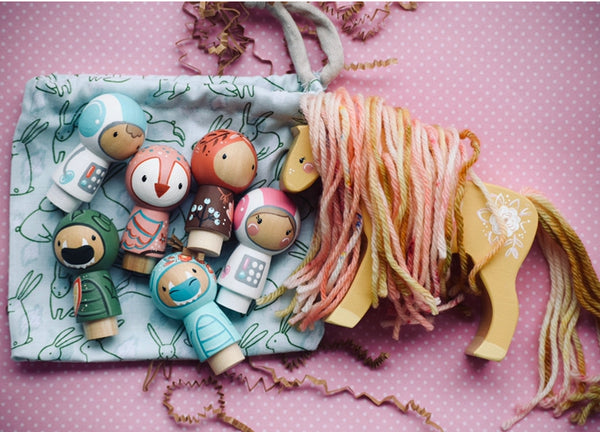 Any 1 Dixie & Bee Kokeshi Doll