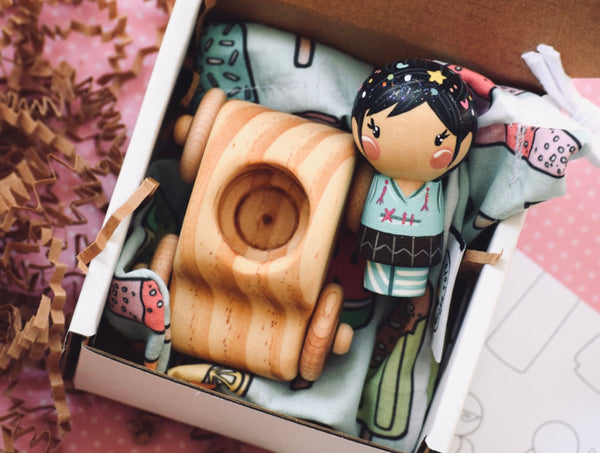 Vanellope Kokeshi Doll only (car separate)