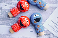 Elmo & Cookie Monster Kokeshi Dolls