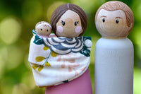 Simple Family Doll - Small - Choose Body Color + Custom Face