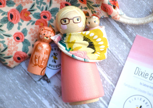 Simple Family Doll - Tall - Choose Body Color + Custom Face