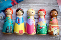Any 5 Tall Custom Peg Dolls
