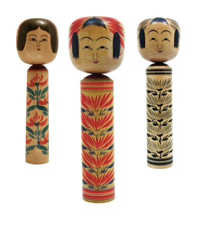Japanese Traditional Kokeshi | Hijiori-Kei (Family)