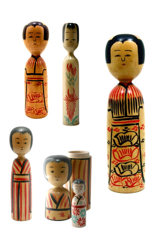 Japanese Traditional Kokeshi | Kijiyama-Kei (Family)