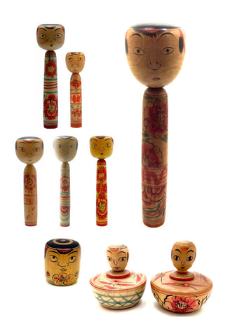 Nakanosawa Traditional Kokeshi Dolls