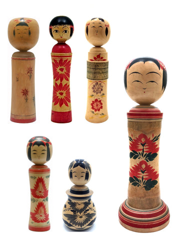 Japanese Traditional Kokeshi | Narugo-Kei (Family)