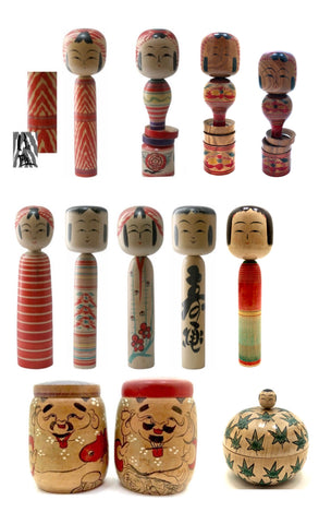 Japanese Traditional Kokeshi | Tougatta-Kei (Family)