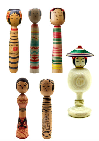 Japanese Traditional Kokeshi | Tsuchiyu-Kei (Family)