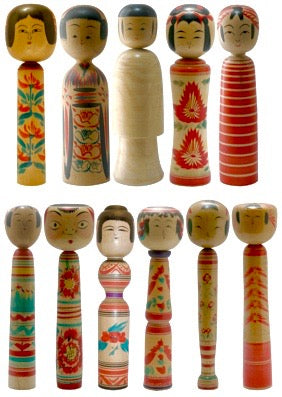 Traditional Kokeshi - the families