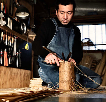 Japanese Tree Root and Bamboo Carving