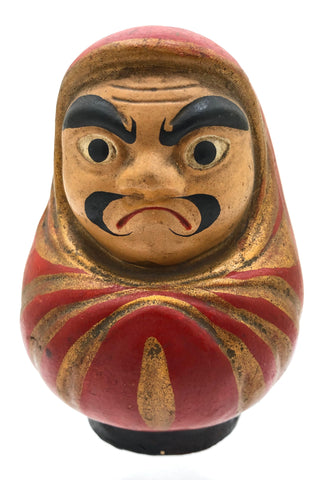 Antique Daruma in Cowl