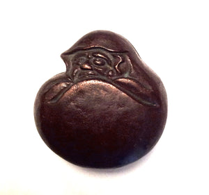 Japanese Daruma Ink Paste Box | Bronze Bodhidharma