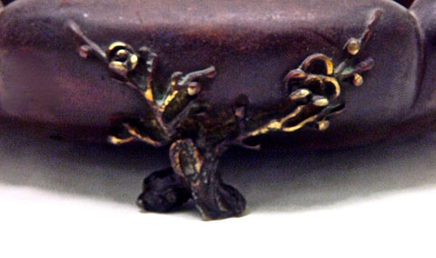 Vintage Japanese Shallow Bronze Six Lobed Suiban | Signed