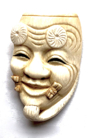 Brooch Carving of Okina