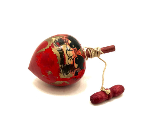 Japanese Traditional Spinning Top with Cord | Vintage Daruma Koma