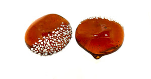 Japanese Hand-Blown Glass Chestnut, (Kuri) Chopstick Rests