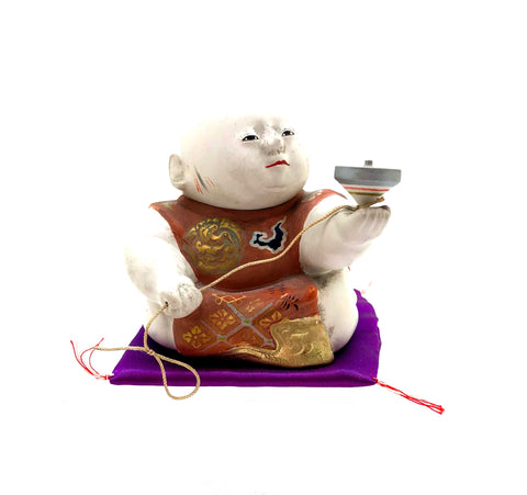 Japanese Gosho-Ningyo With Spinning Koma | Japanese Doll with Spinning Top