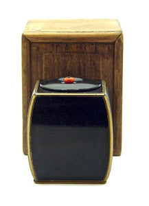 Antique Japanese Ebony/Straight Grain Tea Caddy - Copper Lined | Netsume