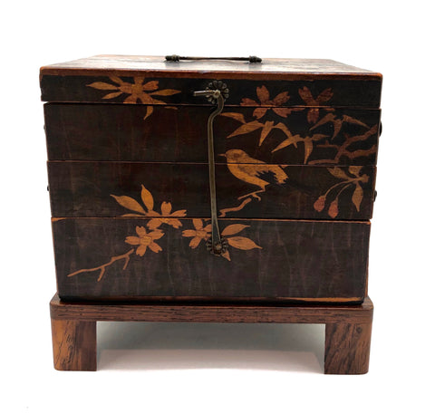 Hakone Cantilever Inlay Accordion Jewelry Box