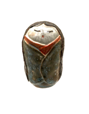 Japanese Contemporary Ceramic Kokeshi of a Young Girl