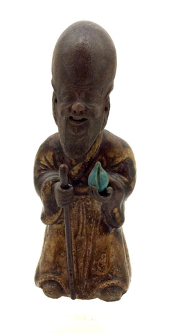 Antique Chinese Republic Shiwan (Shekwan) Pottery  | Shou Xing (God of Longevity)