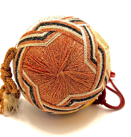 Vintage Japanese Folk Art - Temari Ball with Starburst Motif