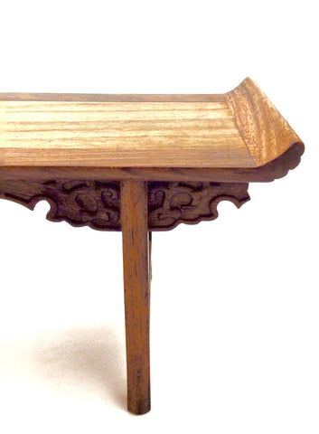Vintage Chinese Trestle Leg Table Top Display Stand with Everted Flanges | Huanghuali Wood