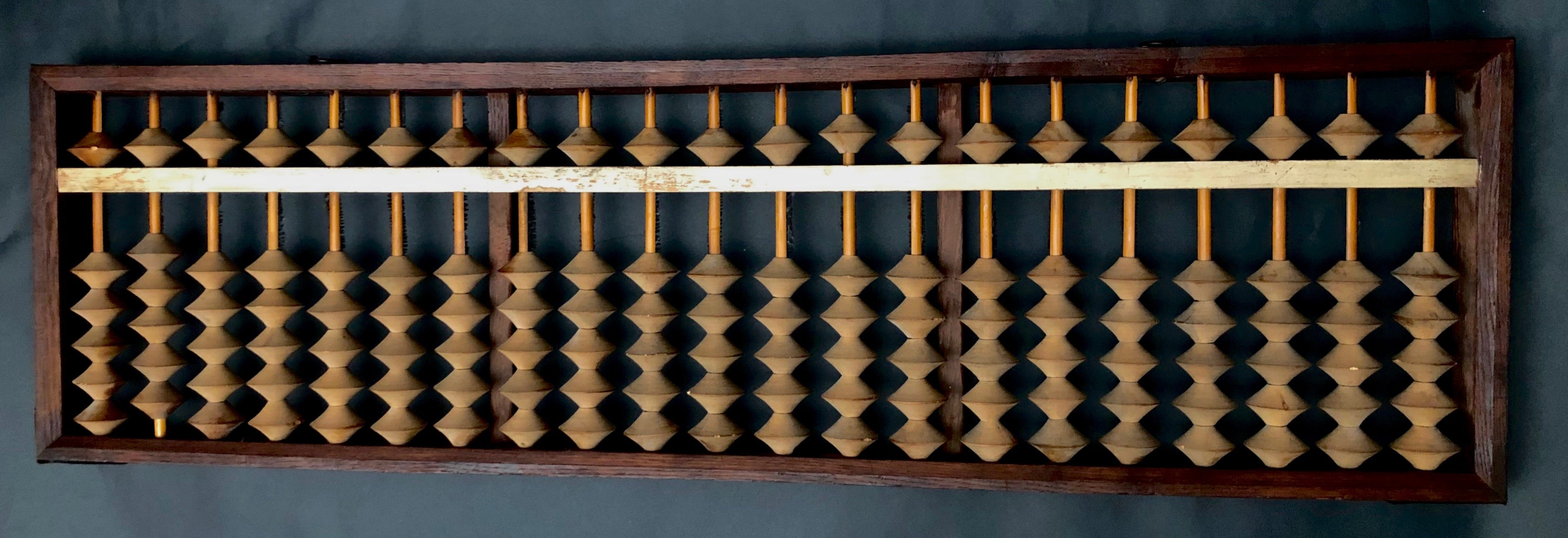 Japanese Antique Kanban | Soroban / Abacus | Taisho Period