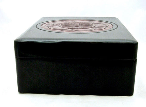 Large Japanese Black Kamakura-bori Lacquer Ryoshibako | Document Box